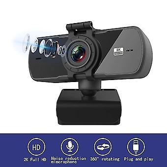 Webcam 2K Computer PC WebCamera met microfoon voor live broadcast video bellen webcams (2k)