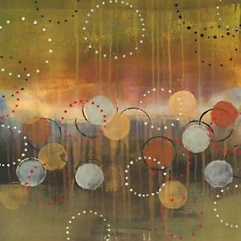 Circles in Green Sq Poster Print by Jeni Lee