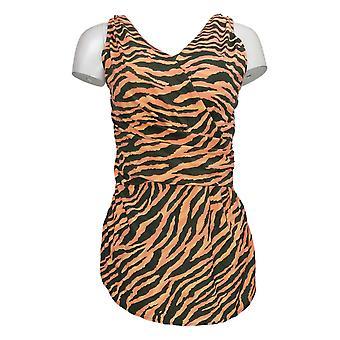 الدنيم وشركاه ملابس السباحة بيتش المطبوعة Surplice السباحة اللباس الوردي A375181