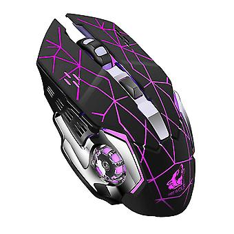 OMESHIN Rechargeable X8 Wireless Silent LED Backlit USB Wireless Mouse 2.4Ghz For Laptop PC