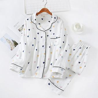 Japanese Style Spring, Summer And Autumn New Ladies Cotton Gauze Home