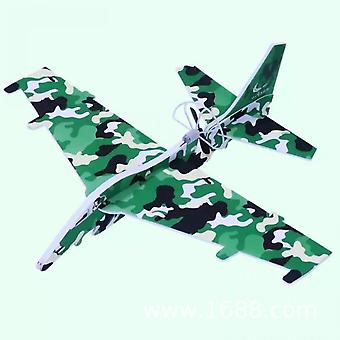 Rechargeable Bubble Glowing Aircraft, Electric Hand-thrown Gyroglider, Airplane Model Fighter, Toy