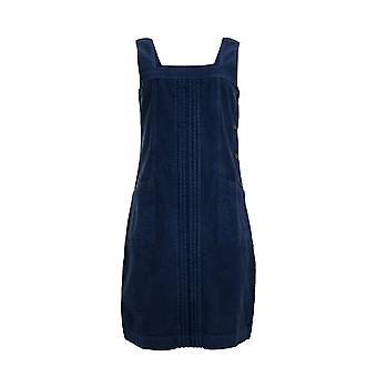 Elowen Cord Pinafore Vestido Azul Marino