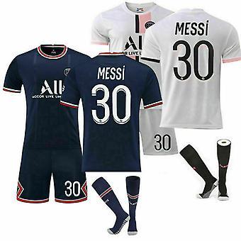 Psg Messi #30 pre deti futbalové súpravy Futbalové tričko Oblek 21/22