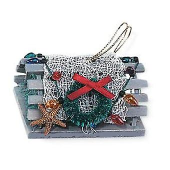 Fishing for Lobster Trap All Decked Out Christmas Holiday Ornament