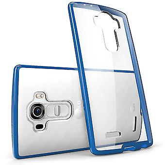 i-Blason LG G4 Case - Halo Scratch Resistant Hybrid Clear Case - Navy