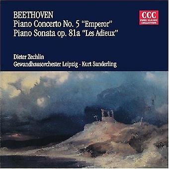 Beethoven/Zechlin - Beethoven: Piano Concerto No. 5 Emperor; Piano Sonata Les Adieux [CD] USA import