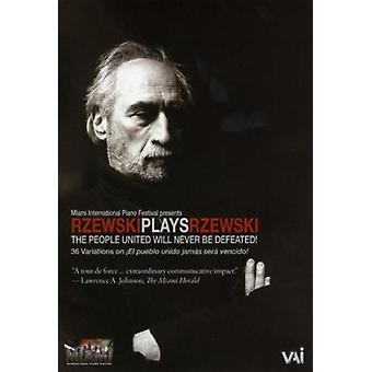 Rzewski Plays Rzewski [DVD Video] [DVD] USA import