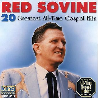 Czerwony Sovine - 20 importu USA wszystkie czas największych hitów Gospel [CD]