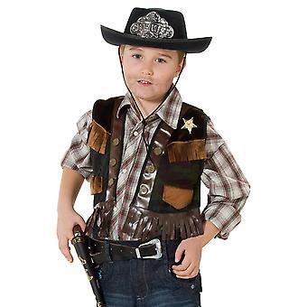 Cowboy Sheriff Deputy Weste Kinder Kostüm