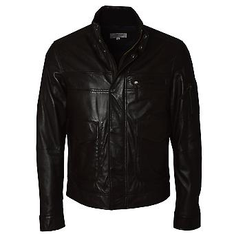 Ashwood Oris Mens Brown Leather Jacket