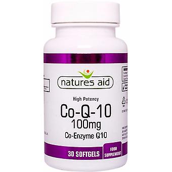 Natures Aid CO-Q-10 100mg (Co-Enzyme Q10), 30 Capsules