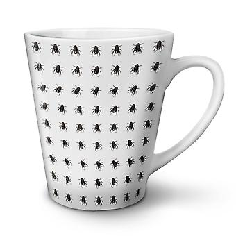 Fly pattern Bug Animal NEW White Tea Coffee Ceramic Latte Mug 12 oz | Wellcoda
