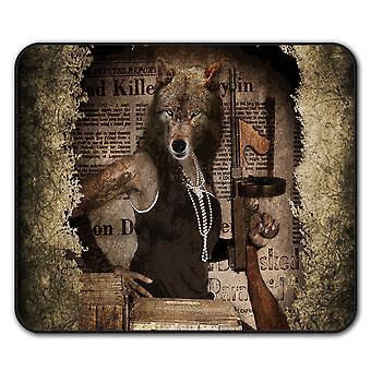 Wilk przemocy pistolet mysz antypoślizgowa Mata podkładka 24 cm x 20 cm | Wellcoda