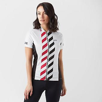 New Gore Women's C3 Vertical Cycling Jersey White