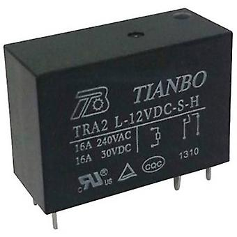 Tianbo Electronics TRA2 L-12VDC-S-H PCB relay 12 V DC 20 A 1 maker 1 pc(s)