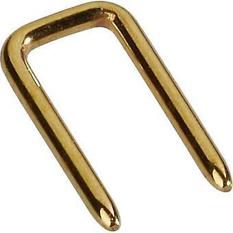 W & P Products 166-10-10-0 Shorting jumper Espaço de contato: 2,54 mm Pins por linha:2 Conteúdo: 1 pc (s)