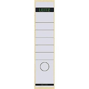 Etiquetas de archivo del arco de palanca Leitz 1640-00-01 61 x 285 mm papel blanco permanente 10 PC
