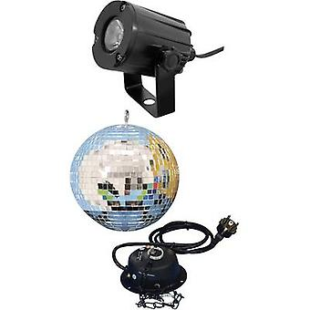 Eurolite 50101856 LED Mirror ball impostare incl. LED lighting, 20 cm a motore incl.