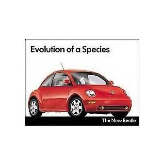 Letrero de Metal de evolución de VW Escarabajo