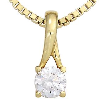 Golden Pendant with cubic zirconia pendant 333 Gold Yellow Gold 1 cubic zirconia