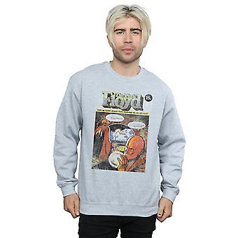 En détresse couverture comique Sweatshirt Pink Floyd masculine