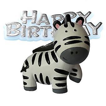 Creative Party Zebra & Motto Cake Decoration Topper