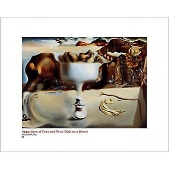 Apparition Of Face And Fruit Dish On A B Poster Print by Salvador Dali (20 x 16)