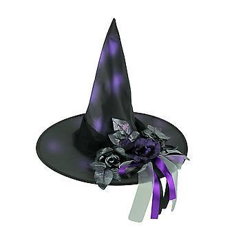 18 inch Diameter Witch Hat met florale Hatband