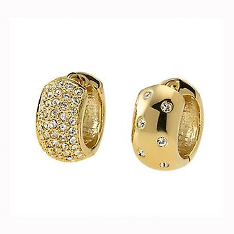 Oliver Weber Post Earring Double Small Gold Crystal