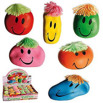 Stress ball Smiley anti-stress Funny Face Klämboll 1st