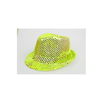 Hats Glitter hoed fel geel