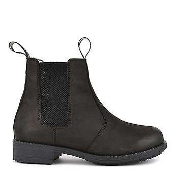 Shepherd of Sweden Sanna Black Nubuck Leather Boot