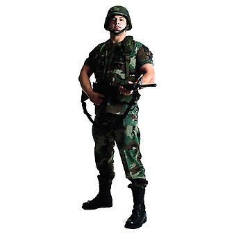 Yhdysvaltain sotilas (Stag tehdä / polttareita)-Lifesize pahvi automaattikatkaisin / seisoja