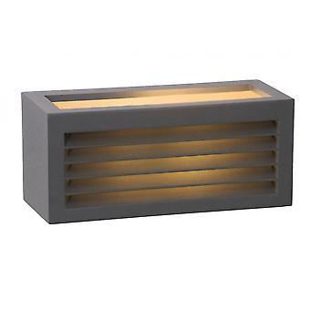 Lucide Dimo moderne Rechteck Aluminium Anthrazit Wandleuchte