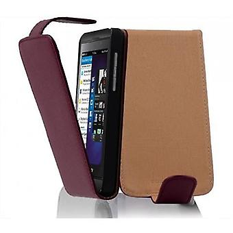Cadorabo Case cover for Blackberry Z10 Case Cover - Phone case in flip design in textured faux leather - Case Cover Case Case Case Bag Book Folding Style
