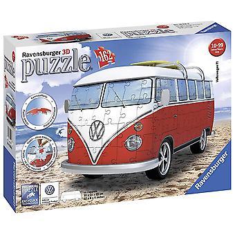 Ravensburger VW T1 Camper Van, 162pc 3D quebra-cabeça
