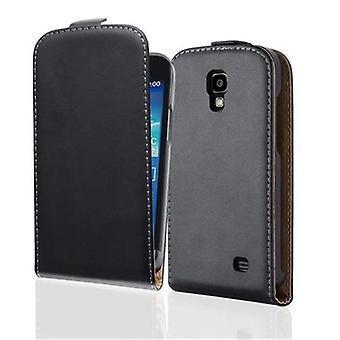 Cadorabo manchon pour Samsung Galaxy CORE 4 G caviar noir - cas dans le flip design art lisse en cuir - housse Etui pochette sachet sac livre Klapp style