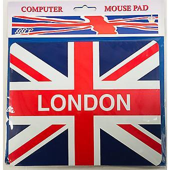 Union Flag Londyn myszy Mat & Coaster zestaw 220 mm x 180 mm (gg)