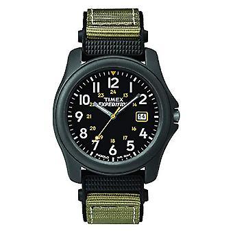 Timex T42571 retkikunta analoginen Camper Katso Quartz miesten ranne, musta/vihreä