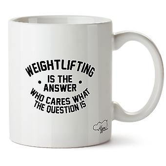 Hippowarehouse тяжелая атлетика это ответ, кто заботится, что вопрос заключается в печати Кубка керамическая кружка 10oz