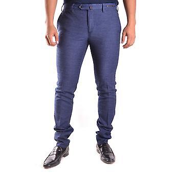 Pt01 Ezbc084032 Men's Blue Cotton Pants