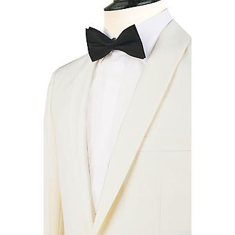 ・ ドベル メンズ ホワイト 2 枚タキシード レギュラー フィット ディナー ショール襟黒のズボンに合う