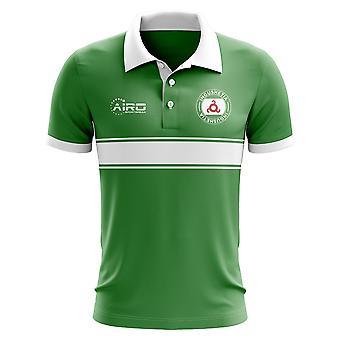 Koszulka Polo z Inguszetii koncepcja Stripe (zielony)