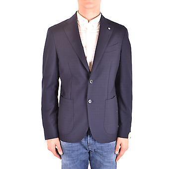 L.b.m. Ezbc215022 Men's Blue Wool Blazer