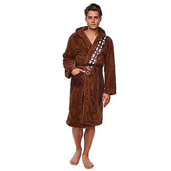 Star Wars Chewbacca brązowy polarowa sukienka z nadrukiem skrzydła-jeden rozmiar