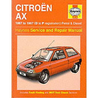 Citroen AX (1987-97) Service and Repair Manual (3rd Revised edition)