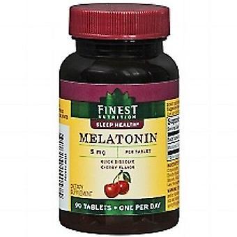 Mejor nutrición melatonina 5 mg cereza sabor suplemento dietético 90 tabletas