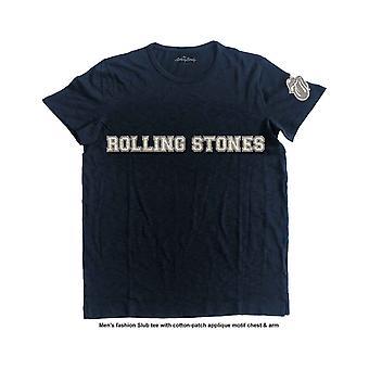 The Rolling Stones T Shirt Band Logo & Tongue Applique Motif new Official Mens
