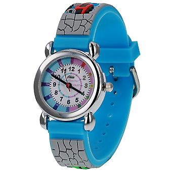 Relda Boy ' s-Children Time Teacher 3D Train Silicone Strap Watch + Telling The Time Award
